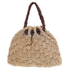 New Straw Summer Weave Woven Shoulder Tote Shopping Beach Bag Purse Handbag