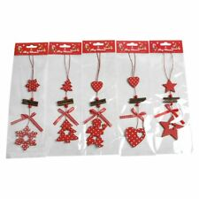 Wooden Christmas Tree Decoration Pendant Hanging Ornament Party Decor Props HT