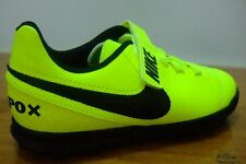 BOYS NIKE TIEMPOX RIO ASTRO TURF FOOTBALL SPORTS STRAP UP TRAINERS UK SIZE 10