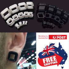 1pc Square Silicone Tunnels Stretchers Plugs Flesh Ear Body Jewellery 4mm-20mm