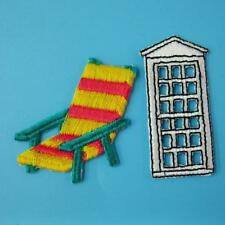 Chair Garden Door Travel Souvenir Embroidered Iron on Sew Applique Patch Holiday