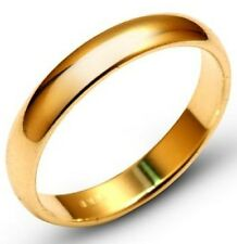 Solid 10k Yellow Gold 6mm Comfort Fit Men Women Wedding Band Ring Size 5-13