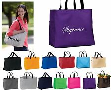 Personalized Tote Bags, Monogrammed Tote Bags, Personalized Bridesmaid Gifts