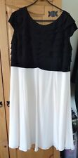 JACQUES VERT BLACK AND CREAM DRESS, SIZE 20 - WORN ONCE VERY FEMININE