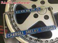CARROLL SHELBY COBRA METAL LICENSE PLATE FRAME FORD AC 289 427 FORD MUSTANG BOSS