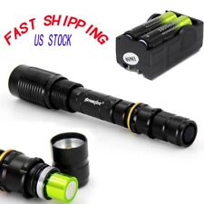 20000LM XML T6 LED Black Zoomable Flashlight Tactical Torch+Charger+18650Battery