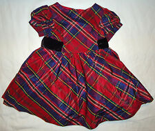 Gymboree NWT Holiday Celebrations Red Silk Plaid Party Dress 18-24 Months $52