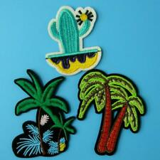 3 Tree Palm Beach Holiday Iron on Patch Embroidered Applique Motif Beach Lots