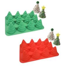 Xmas Trees Candy Cane Silicone Fondant Cake Mold Chocolate Mould Decorating Tool