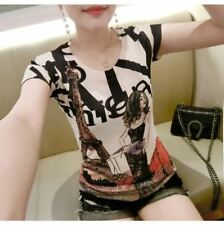 New Fashion Summer Style Cotton O Neck Short Sleeved T-shirt For Women