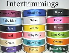 TOP QUALITY GROSGRAIN RIBBON 22MM, 5 MTRS, ASSORTED COLS, ART 53754