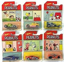 Hot Wheels Peanuts Die Cast Vehicle 1:64 Charly Brown Snoopy Cars 6 in the set