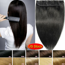 DIY One Piece Clip In Remy Real 100% Human Hair Extensions Highlight US HOT G125