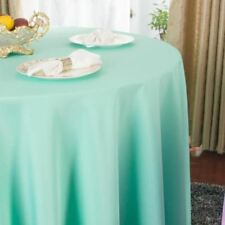 Plain Dyed Pattern Round Shape Table Cloth For Hotel Restaurant Party Decor FA73