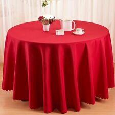 Water-Proof Round Shape Table Cloth For Hotel Restaurant Party Decor FA74