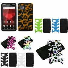 Hybrid Fishbone Dual Layer Hard Skin Case Cover For Motorola Droid Bionic XT875