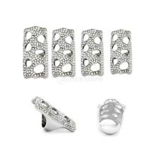 Clear Rhinestone Finger Joint Ring Armor Cocktail Ring Hollow Out Knuckle Rings