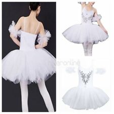 Women Ballet Swan Costume Sleeveless Tutu Stage Show Lady Skirt Dancing Dress
