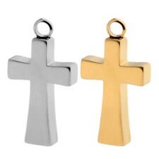 Gold/Silver Stainless Steel Cross Pendant Urn Cremation Memorial Jewelry