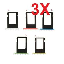 Lot of 3 iPhone 5C Sim Tray Nano Sim Card Tray Slot Holder Replacement Part
