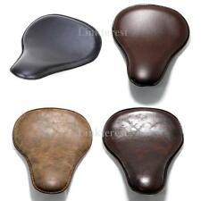 """Motorcycle Leather SOLO Seat Cover 3"""" Spring Bracket For Harley Bobber BIG new"""