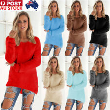 AU Women Ladies Long Sleeve Knitted Sweater Cardigan Pullover Jumper Top Outwear