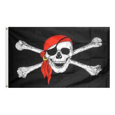 3x5Ft Jolly Roger Pirate Surrender The Booty Brass Grommets Flag House Banner