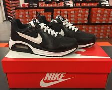 Nike AIR MAX TRAX BLACK LEATHER SHOES SNEAKERS 644453-013 size 5.5, 6, 6.5, 7