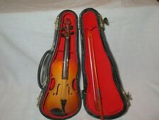 "Tiny 6.5"" VIOLIN with Bow and Case - Nice display piece"