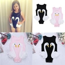 Todders Infant Baby Girls Swan Pattern Bodysuit Romper Jumpsuit Playsuit Outfits