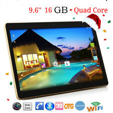 9.6'' Android 6.0 Quad Core Tablet PC 1GB+16GB Dual Camera WiFi Bluetooth 3G SL