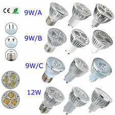 LED Light Bulb Lamp 9W 12W MR16 E27 GU10 Cool Warm White LED Spot light sDL