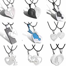 Valentine's Day Heart Love Cat Family Couple Lover Necklace Pendant Jewelry Gift