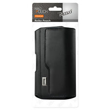 """Reiko High Quality Leather Case Pouch Cover Holster 2"""" Metal Belt Clip Loops"""