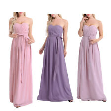 Women Formal Strapless Evening Party Prom Gown Cocktail Wedding Bridesmaid Dress