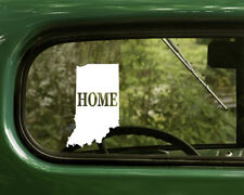 2 INDIANA MAP DECAL Home Stickers For Car Truck Laptop Rv Window Bumper Boat