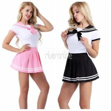 Uniform Japanese School Outfit Set Sailor Suit Women Short Sleeve Romper Skirt