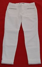 J BRAND PAULINA CROPPED TROUSERS MID-RISE STRETCH DENIM WHITE JEANS BRAND NEW