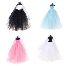 Fashion Royalty Princess Dress/Clothes/Gown+veil For Barbie Doll Accessories QW