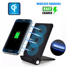 3 Coils Qi Wireless Fast Charging Charger Holder Pad Stand Dock For iPhone X 8 +