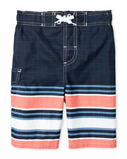 NWT ORIGINAL PENGUIN (Boys 4-7) Navy Stripe Board Shorts