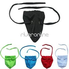 Sexy Men Stretchy G string Micro Bikini Pouch Thong Brief Lingerie Underwear