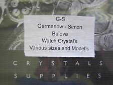 NOS GS Watch Crystal for Vintage Women's Bulova Wristwatches (W-1)