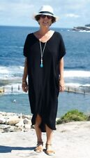 NWT Black Crinkle Kaftan High Low Maxi Dress Plus Size fit from 12-16 & 18-22