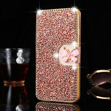 Bling Diamond Wallet Card Holder Magnetic Leather Case Cover For iPhone 7 Plus 8