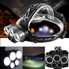 80000LM 5 Head XM-L T6 LED 18650 Headlamp Headlight Flashlight Torch Lamp