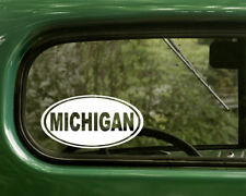 MICHIGAN DECAL 2 Oval Stickers For Car Truck Laptop Rv Window Bumper Jeep Boat