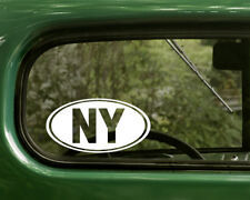 NY NEW YORK DECAL 2 Oval Stickers For Car Truck Laptop Window Bumper Jeep Boat