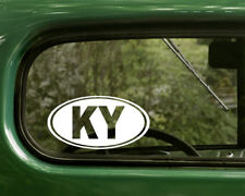 KY KENTUCKY DECAL 2 Oval Stickers For Car Truck Laptop Window Bumper Jeep Boat