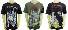 ED HARDY by Christian Audigier Printed Graphic Short Sleeve Shirt 2X Used
